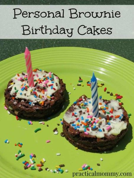 Personal Brownie Birthday Cakes - a fun and different twist on a personal birthday cake