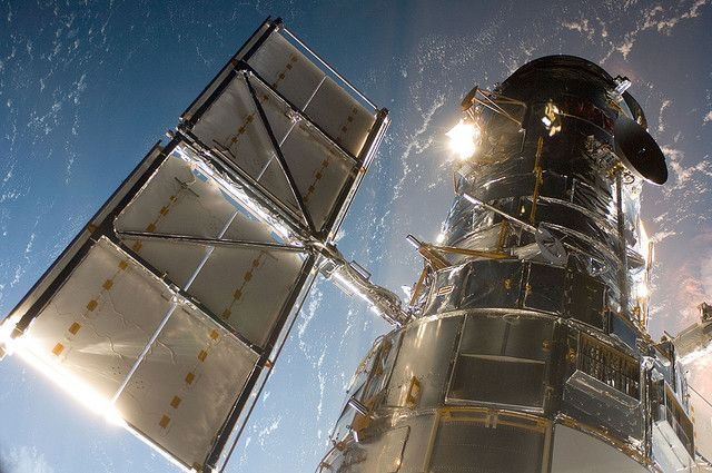 Hubble Space Telescope: nice picture of the first orbiting telescope.