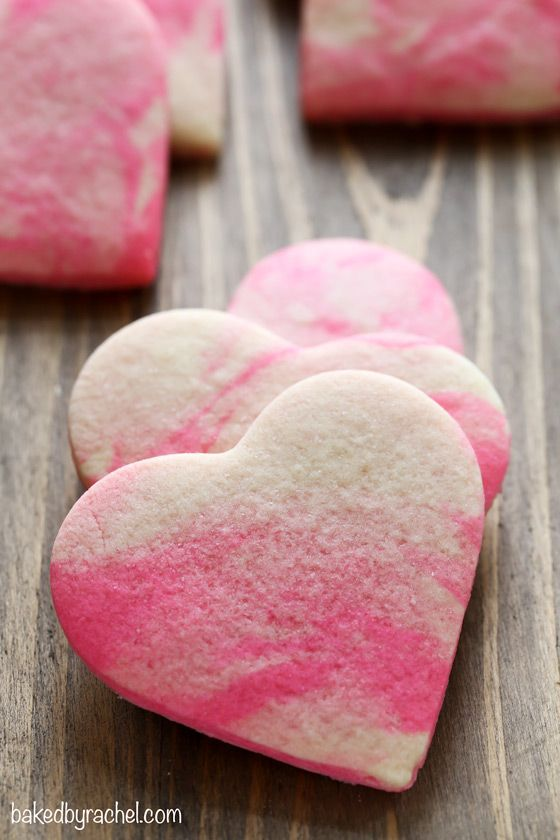 Marbled Valentine's Day Sugar Cookies | Baked by Rachel