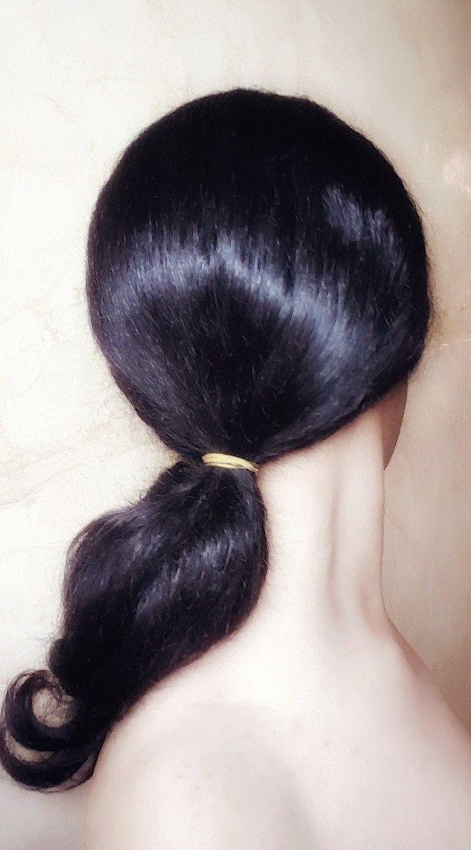 Hair Style Hairstyle Tie Hair Tied تسريحة الشعر المربوط تسريحة شعر ذيل الحصان المنخفضة Low Ponytail Hairstyle Ponytail