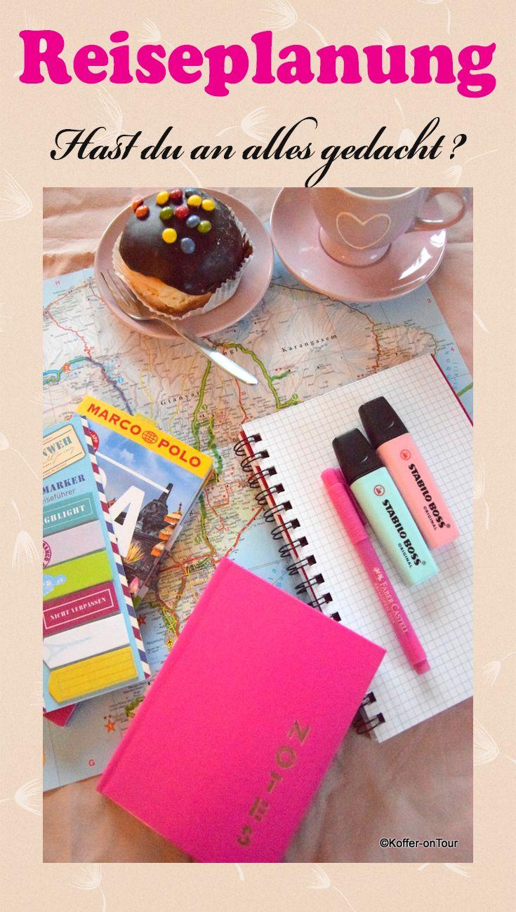 Reiseplanung - Hast du an alle Details gedacht? Schau mal rein!