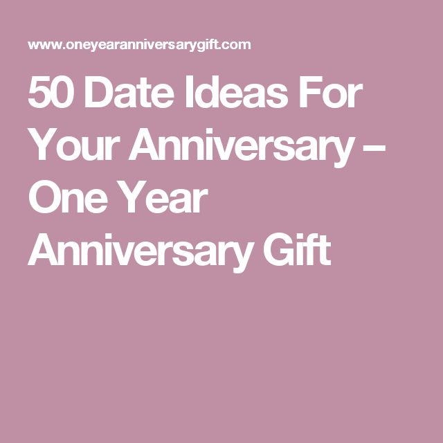 Ideas for a 1 Year Dating Anniversary