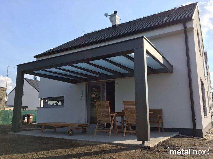 Drevený prístrešok modern s krytinou mliečne sklo Wooden shelter house with glass/Carport/Wooden pergola