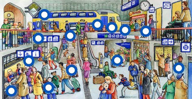 Interactieve praatplaat: Het station by Paula Prevoo