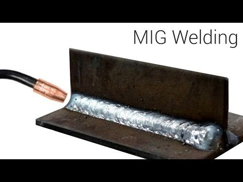 MIG Welding - Basic T-Joint weld with a small 115 volt welder - YouTube