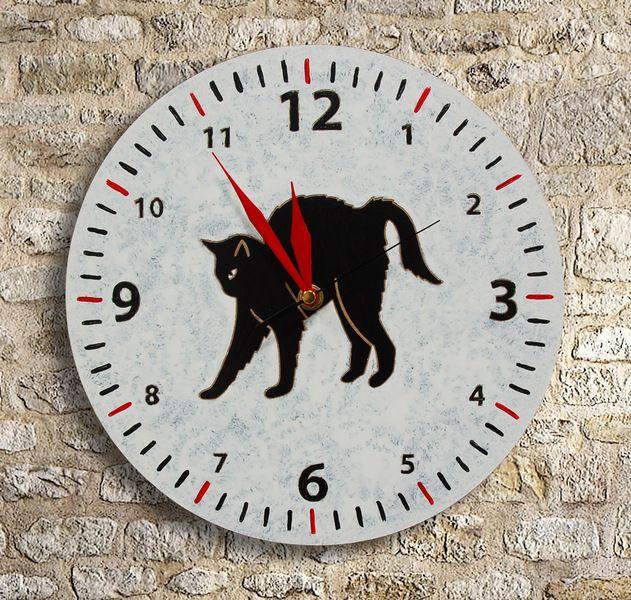 Zegar z KOTEM w Silva Design (Drewniane dekoracje) na DaWanda.com