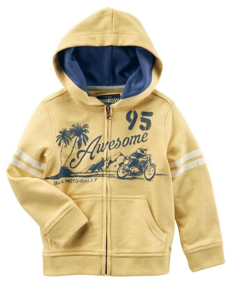 Toddler Boy Moto French Terry Hoodie from OshKosh B'gosh. Shop clothing & accessories from a trusted name in kids, toddlers, and baby clothes.