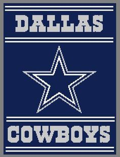Dallas Cowboys 4 Crochet Graph / Chart 214 by StitchtasticDesigns
