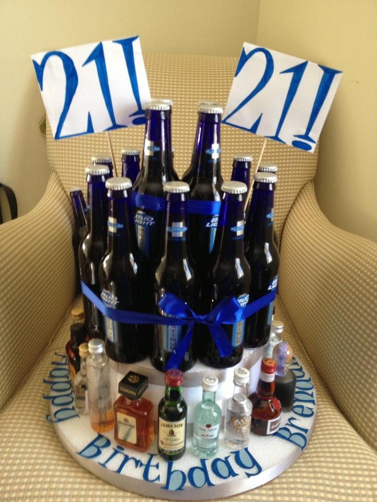 21st Birthday Alcohol Cake Bachlorette Party Pinterest