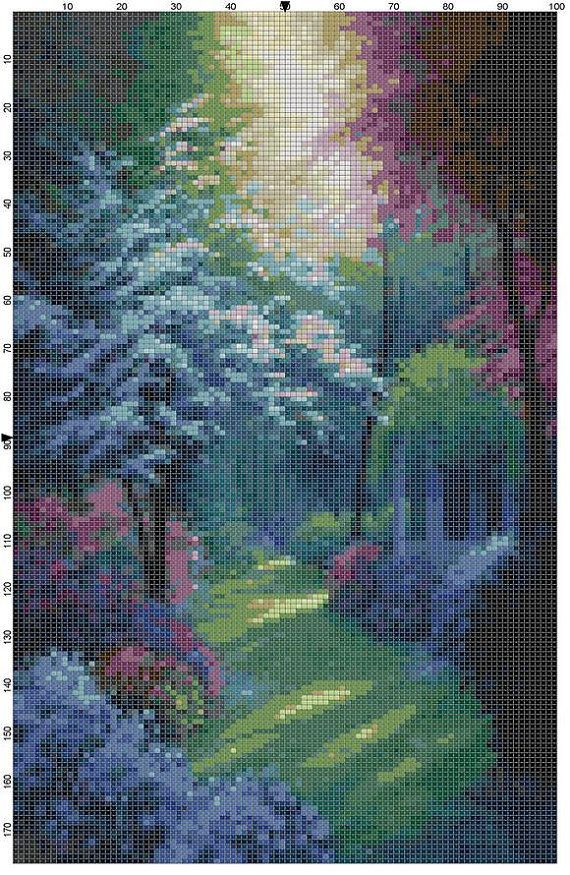Cross Stitch Pattern Beautiful Secluded by theelegantstitchery, $10.00