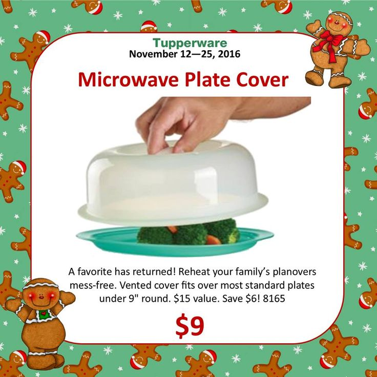 Tupperware Microwave Plate Cover on Sale for $9