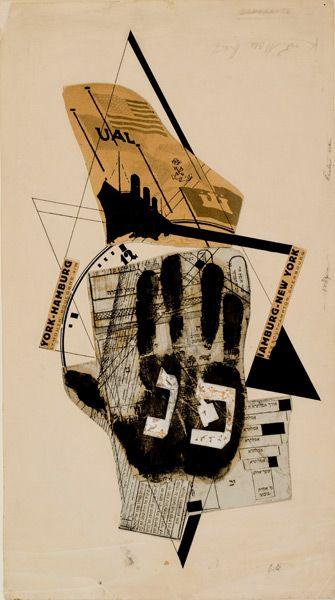 EL LISSITZKY  Illustration pour Shifs karta [Billet de bateau], in Shest povestey o lekgkih kontsakh [Six contes sur des fins faciles] d'Ilya Ehrenbourg, 1922.    © Israel Museum, © ADAGP, Paris, 2008