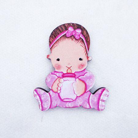 #AD16 - Aplique decorado de bebê com mamadeira