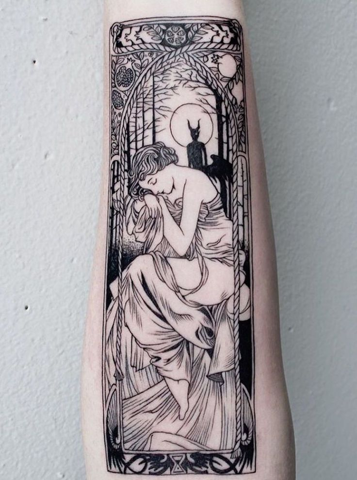 Fine Line Tattoos Intricately Detailed Like Folklore Illustrations