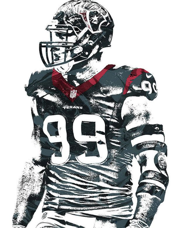Jj Watt Houston Texans Pixel Art 6 Art Print By Joe Hamilton Houston Texans Football Jj Watt Houston Texans
