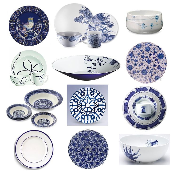 Blue & White Tabletops: Always a Classic,  I agree