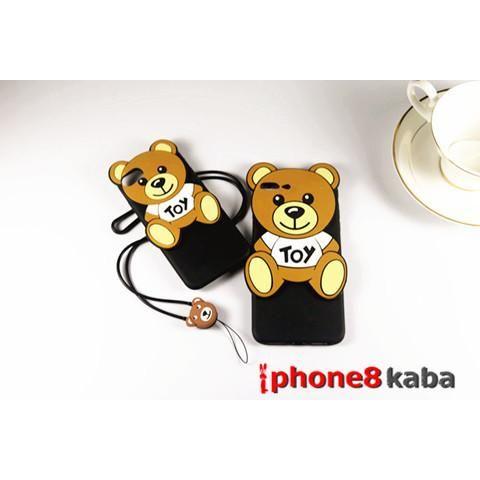 Moschino モスキーノ iphone8 ケース7 plusカバー くまクマ柄のPC製 アイフォン6s/7s/7 スマホカバー 愛くるしい