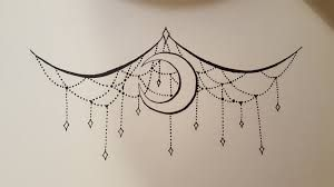 Chandelier and moon sternum under boob tattoo. Beautiful, but the moon is kinda randomly thrown in…I'd take it out.