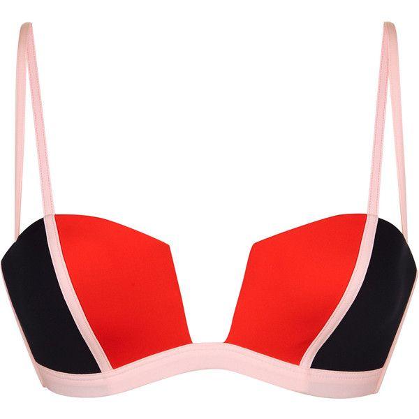 La Perla Color Power Multi-Coloured Underwired Bikini Top (€155) ❤ liked on Polyvore featuring swimwear, bikinis, bikini tops, underwire tankini tops, colorblock bikini top, underwire swimsuit tops, underwire swimwear and underwire swim top