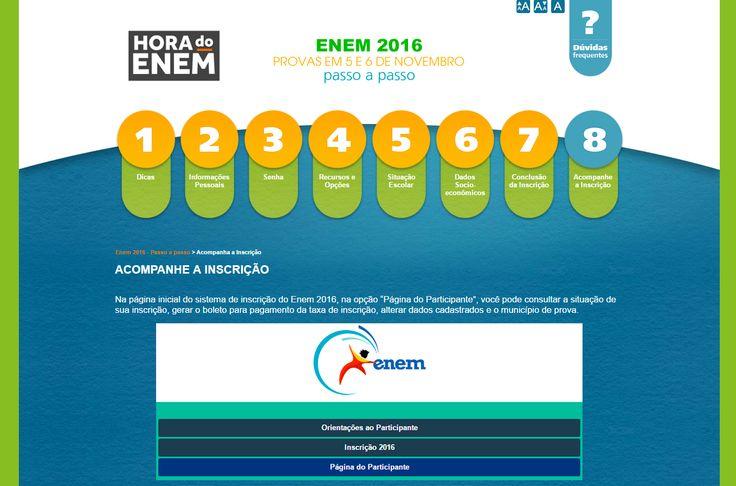 Assim como no ano passado, o cartão de confirmação do Enem estará disponível apenas na internet
