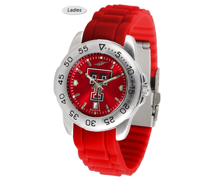 The Sport AnoChrome Texas Tech Red Raiders Watch is available in a Mens style. Showcases the Red Raiders logo. Color-coordinated silicone band. Free Shipping. Visit SportsFansPlus.com for Details.