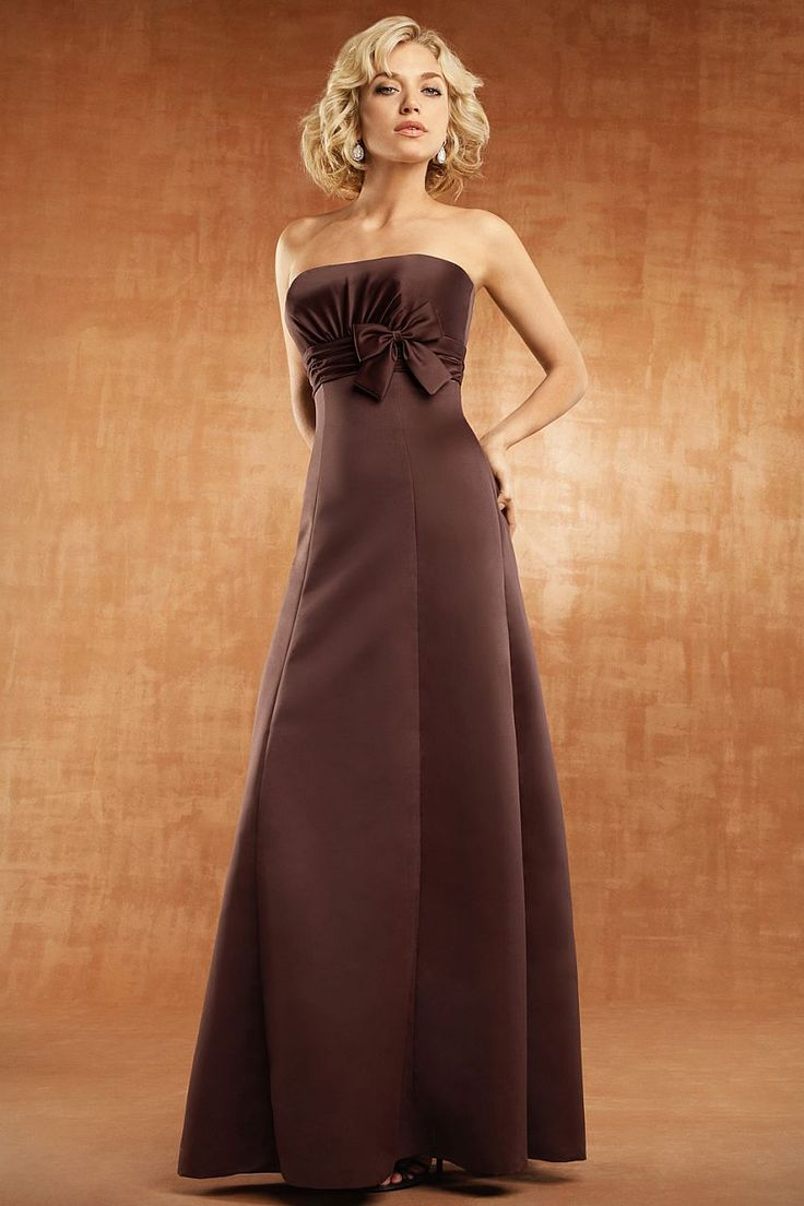 18 best chocolate coffee images on pinterest bridesmaids modern strapless european matte satin dress with a hand ruched natural waist bodice that has been brown bridesmaid dressesred ombrellifo Choice Image