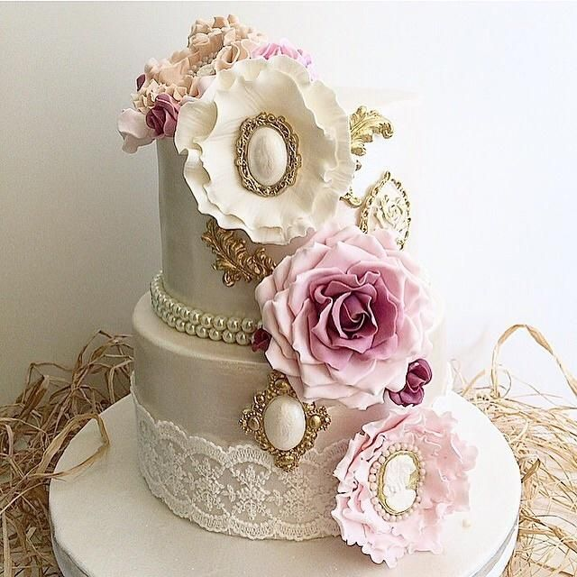 Pearl Vintage Cake - Cake by Shafaq's Bake House