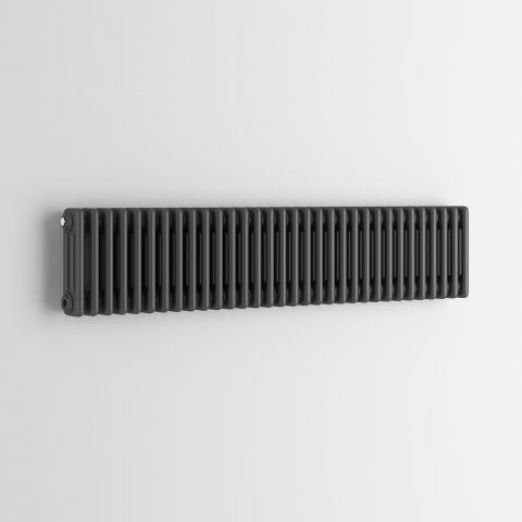 300x1458mm Anthracite Triple Panel Horizontal Colosseum Radiator - Roma Premium