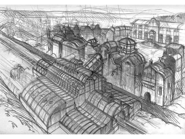 "Microïds - Benoit Sokal's ""Syberia"" Sketches & Concept Art"