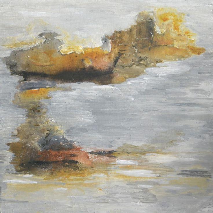 Abstrakt Fließende Acrylfarben auf Canvas