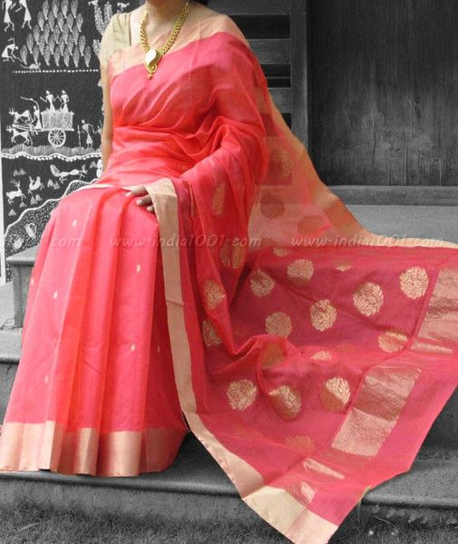 Designer Handcrafted Chanderi Saree