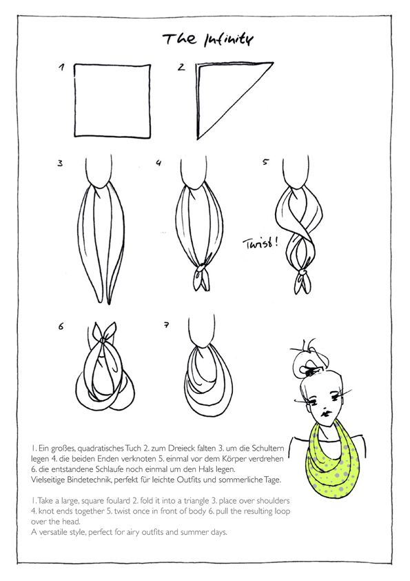 13 besten schal tuch binden bilder auf pinterest schalknoten schals binden und kopft cher. Black Bedroom Furniture Sets. Home Design Ideas