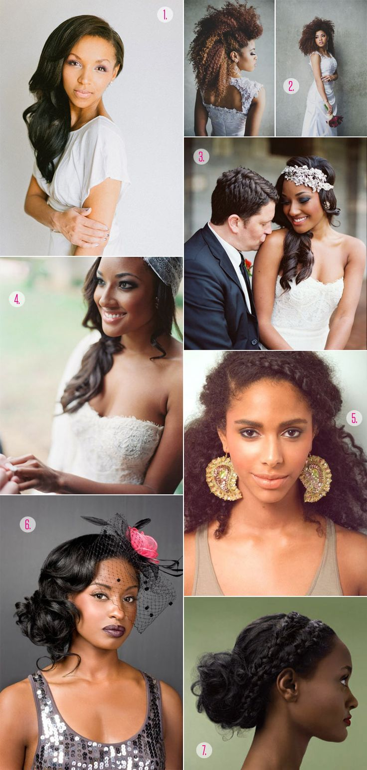 Not black, but some of these styles would work on my ethnic hair. Black Wedding Hairstyles | A Practical Wedding