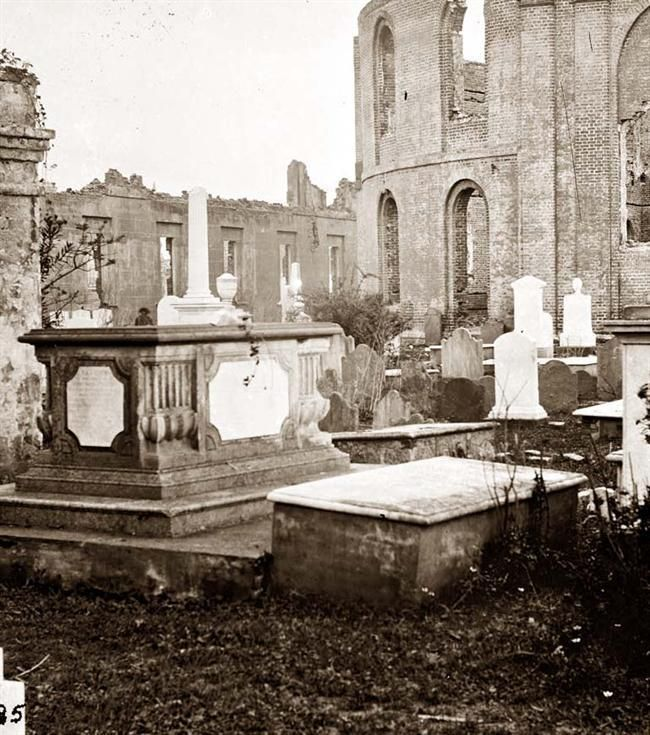 Charleston, S.C.  Graveyard of the ruined Circular Church.  It was taken in 1865.