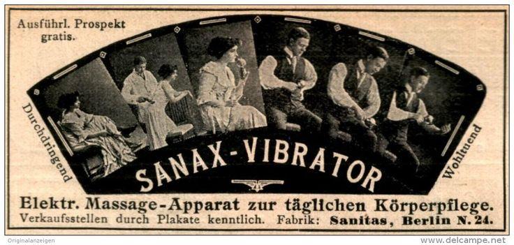 Original-Werbung/Anzeige 1913 - SANAX VIBRATOR / SANITAS BERLIN - ca.90 x 40  mm