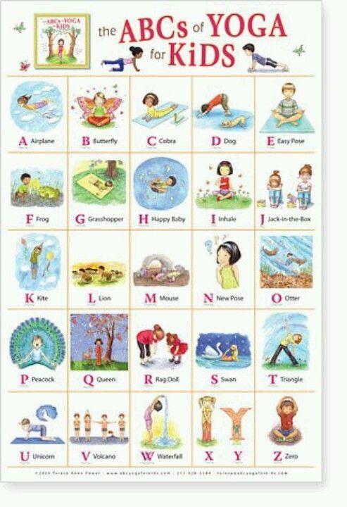 Lo amé... ¿Qué tal este abecedario de #Yoga para niños?