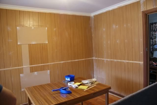 Painting fake wood panelling | All The Wyld Things