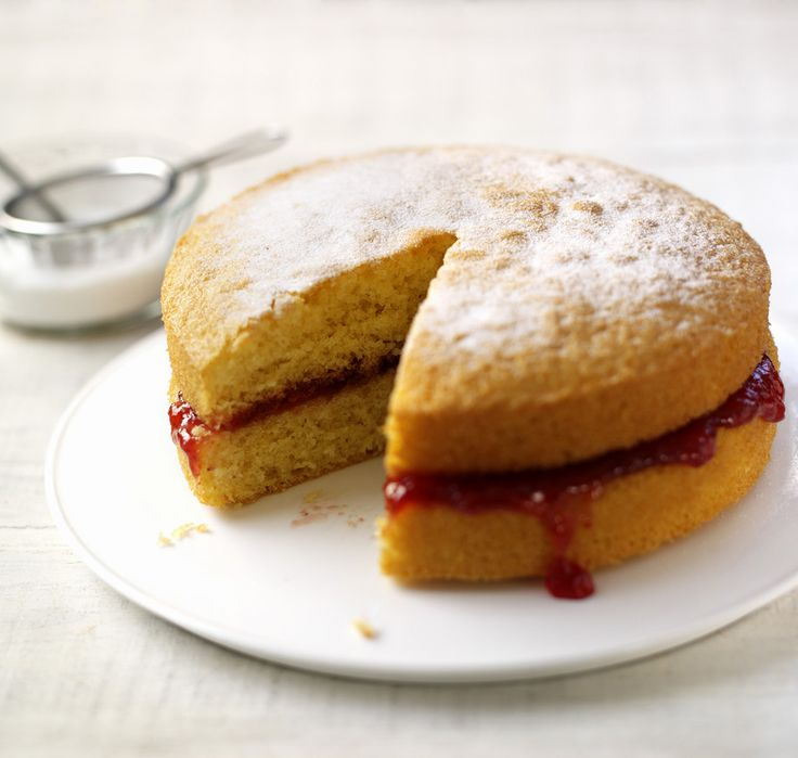 The perfect Victoria sandwich by Mary Berry.