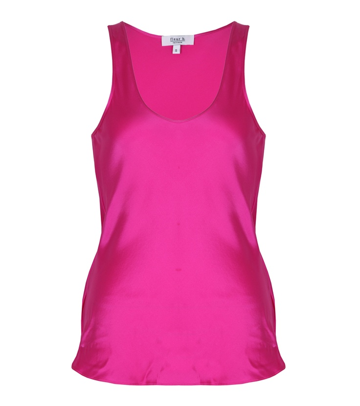fleur b. The Silk Vest Hot Pink. Available online at www.fleurb.co.uk