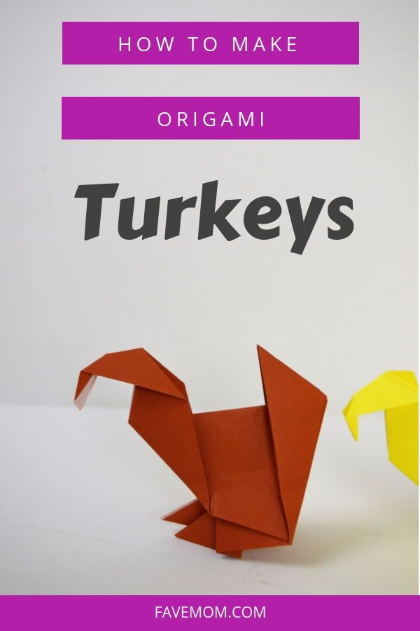 How to make an origami turkey easy