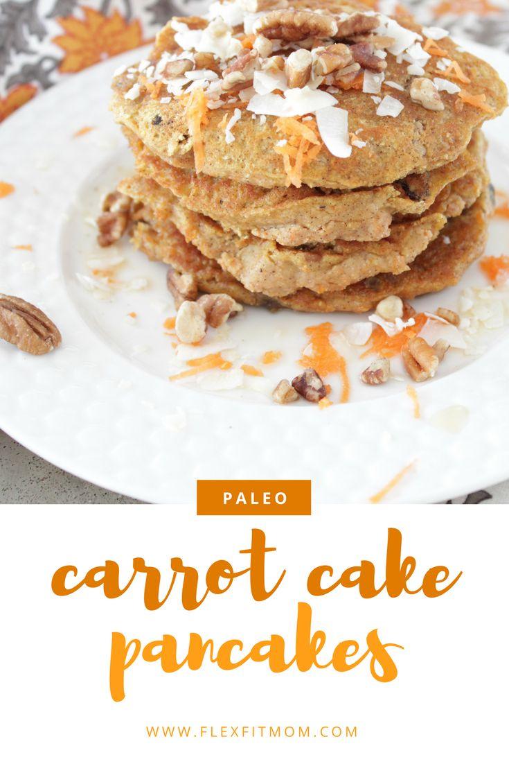 Carrot Cake Pancakes | Paleo | Gluten Free | Sugar Free | Dairy Free