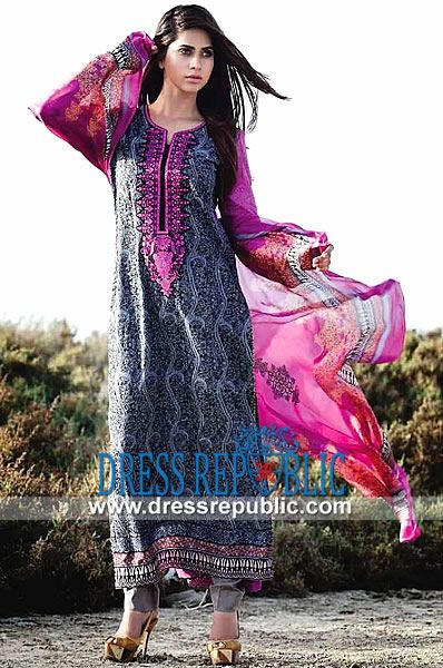 Shariq Textile Deeba Printed Cotton Suits 2014  Mid Summer Collection is Available on Dressrepublic at Highly Affordable Prices. by www.dressrepublic.com