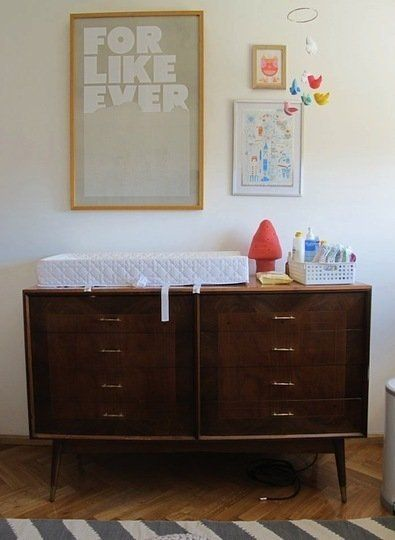 Alternatives to Traditional Changing Tables | I want to use the top of my dad's old dresser as a changing table instead of getting another piece of furniture.