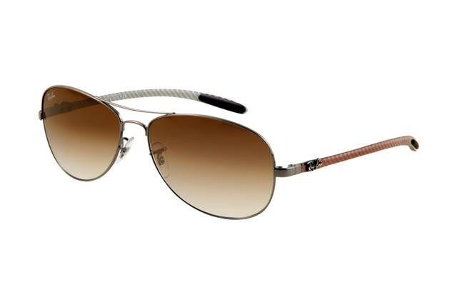 Ray Ban Tech RB8301 Sunglasses Gunmetal Frame Brown Mirror