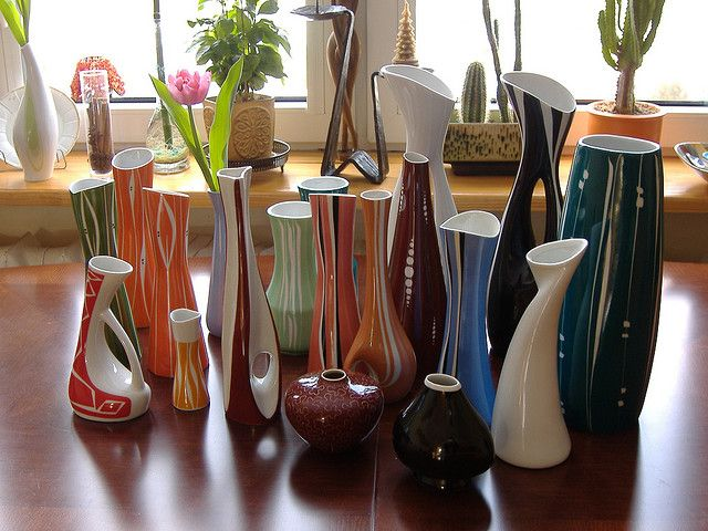 Cmielow, flower vases from Poland.