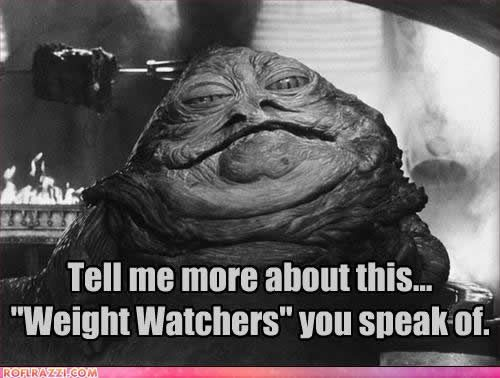 What is the mean of #WeightWatchers!  Star Wars Meme