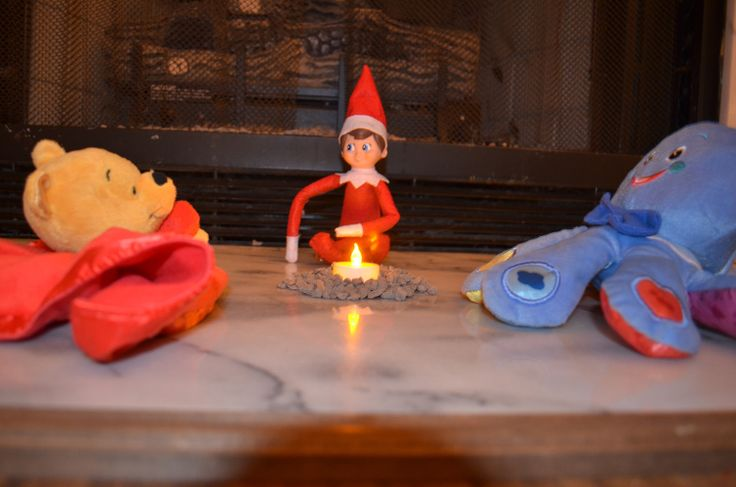 Nothing like spending quality time with friends. #elfontheshelf #campfire