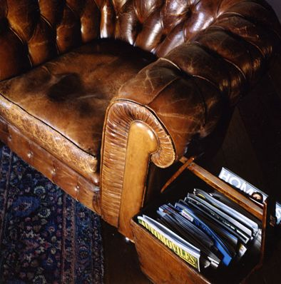 well worn reading chair