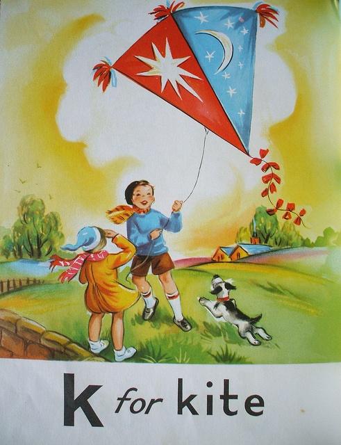 flying kite illustration - photo #26