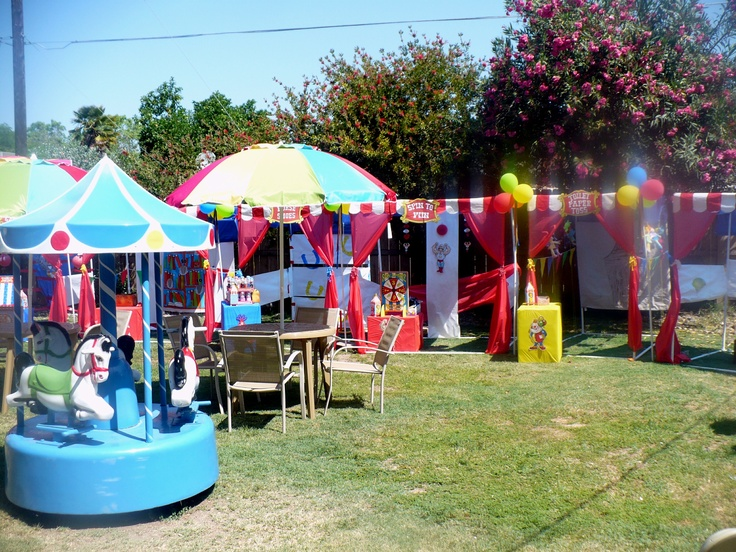 The Back Yard Carnival Birthday Party.